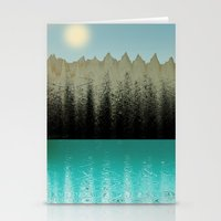 cabin Stationery Cards featuring Cabin View by Tammy Kushnir