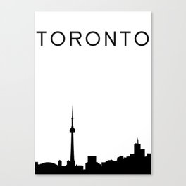 Toronto Skyline Graphic Canvas Print