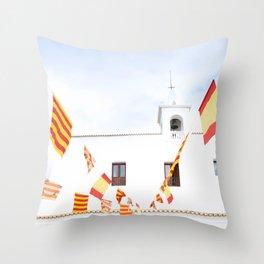 Spanish Church, Ibiza, Spain - Wall Art Photo Print Throw Pillow