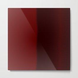 Red Half Metal Print