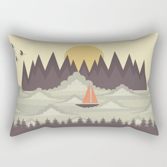 Over the Clouds Rectangular Pillow