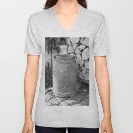 Old milk jug Unisex V-Neck