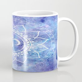 Om Mandala Lavender Periwinkle Blue Galaxy Space Coffee Mug