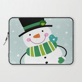 New hand-drawn original Snowman art Laptop Sleeve