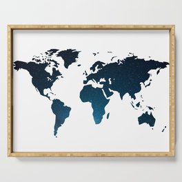 Heaven Meets Earth - Galaxy World Map Serving Tray