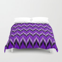 Bargello Pattern in Purple and Black Duvet Cover