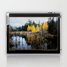 A Song Softly Sung - Tamarack and Cattails Laptop & iPad Skin