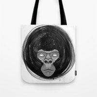 gorilla Tote Bags featuring Gorilla  by dchristo