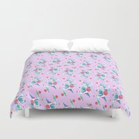 nail polish Duvet Covers featuring Nail & Hammer  by Lillian Cassidy