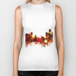 Detroit Michigan Skyline Biker Tank