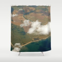 view from a plane Shower Curtain