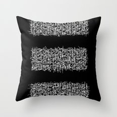tri black Throw Pillow