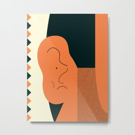 Angry talking makes the ear cranky Metal Print