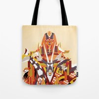 desert Tote Bags featuring Desert by Logan David