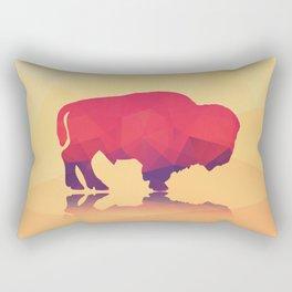 Geometric buffalo Rectangular Pillow
