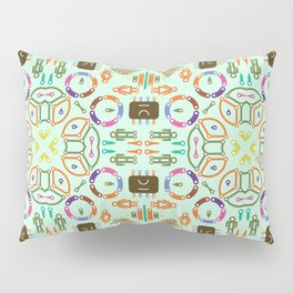 """Seamless pattern in the style of """"printed circuit board"""" Pillow Sham"""