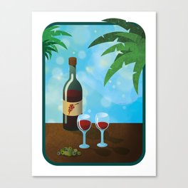 Wine And Tapas Canvas Print