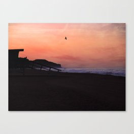 Peach Skies Canvas Print