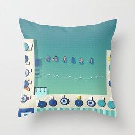 Italy Beach Life - Sorrento Throw Pillow
