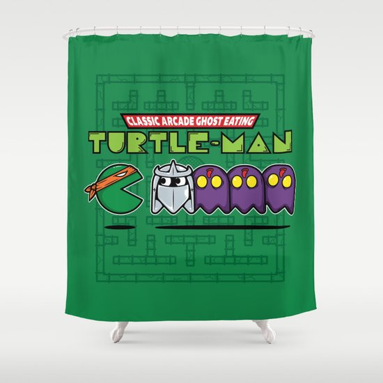 Hero in a Pac-Shell (Mikey) Shower Curtain