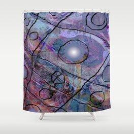 Maille bleue Shower Curtain