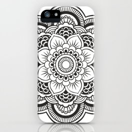 Mandala White & Black iPhone Case