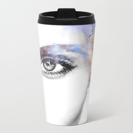Girl with stars in her hair Metal Travel Mug