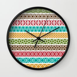 Moroccan Stripe Pattern Wall Clock
