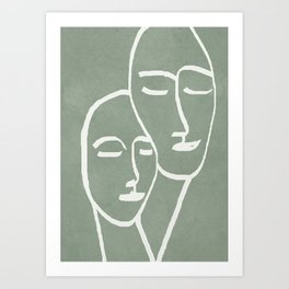Abstract Masks Art Print