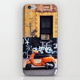 Orange Scooter iPhone Skin