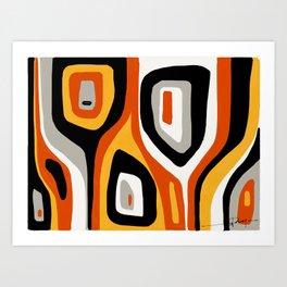 Retro #3 Art Print