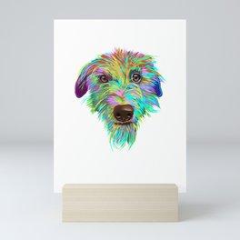 Splash Scottish Deerhound Dog Mini Art Print