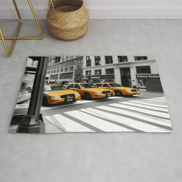 NYC - Yellow Cabs - Shops Rug