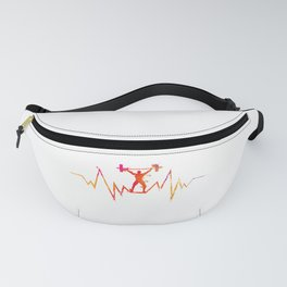 Cool Weightlifting Heartbeat Gift for Sport Lovers Premium print Fanny Pack