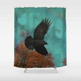 Soaring Crow Shower Curtain