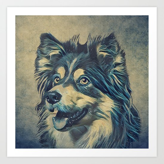Shetland Sheepdog Painting Art Print