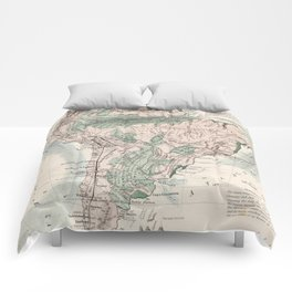 Vintage Map of South America (1858) Comforters