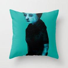 Night Girl IV Throw Pillow