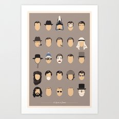 25 FACES OF JAMES Art Print