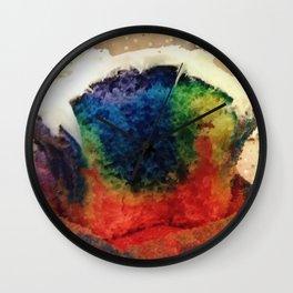 Tie Dye Cupcake Wall Clock