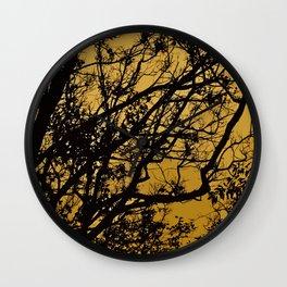 Golden Trees Wall Clock