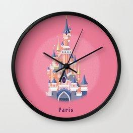 Paris Disneyland Castle Wall Clock