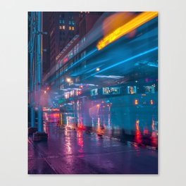 New York Future City Canvas Print