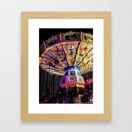 Spinning Silhouettes Framed Art Print