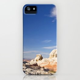 White Pocket Formations iPhone Case