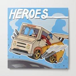 Andy Mineo Heroes Metal Print
