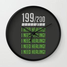I Need Healing Wall Clock