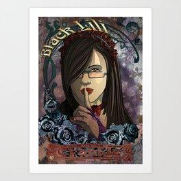Black Lili - Cyanide Art Print
