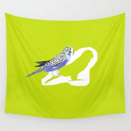 Pistachio shadow parakeet Wall Tapestry