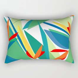 Tropical floral composition, exotic flowers, birds of paradise. Rectangular Pillow